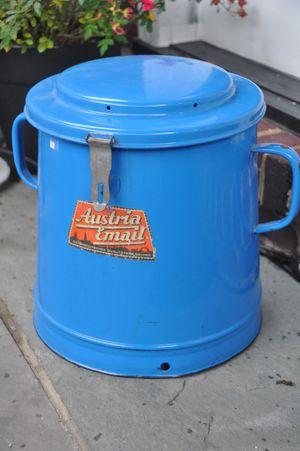 Antique European Enamel Container for Sale in Alexandria, VA