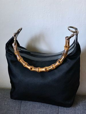 Pre Owned Vintage Bamboo Hand Bag Purse Leather Black Auth for Sale in Mountain View, CA