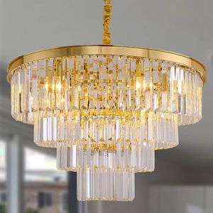 Gold Plated 4-Tier Crystal Chandelier for Dining Room, Living Room or Bedroom for Sale in Henderson, NV
