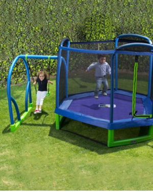 New!! Jump and swing, trampoline and swing, 7 ' trampoline, outdoor furniture, for Sale in Phoenix, AZ