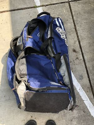 Softball gear, catchers glove, bag, and batting helmet for Sale in Turlock, CA