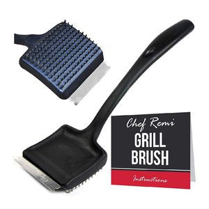 Grill Brush And Scraper - Long 14 Inch Handle, Sharp Stainless Steel Blade, Strong BBQ Wire Bristles - Makes A Great Gift For Fathers for Sale in Garden Grove, CA