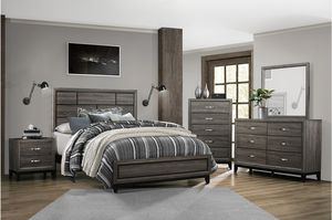 New 4pc queen size bedroom set tax included for Sale in Hayward, CA