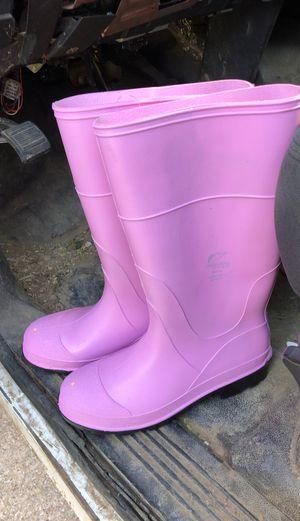Pink rain boots steel toe for Sale in Dallas, TX