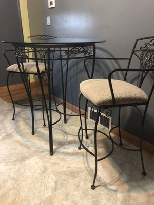 Ornate bistro table with bar stools for Sale in Alexandria, VA
