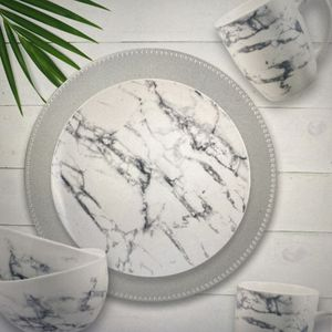 Elegant Gray Marble Stoneware Plates, Bowls And Cups for Sale in Houston, TX