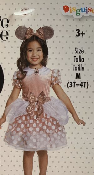 Minnie Mouse Rose Gold Disney Costume Size 3T-4T for Sale in Whittier, CA