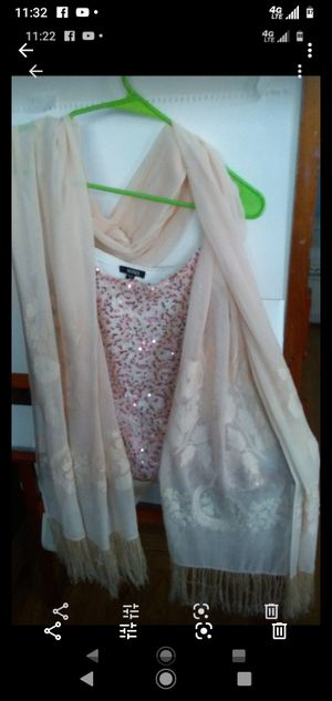 Pink chiffon shawl for Sale in Daly City, CA