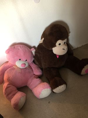 Stuffed Teddy bear and Gorilla for Sale in El Centro, CA