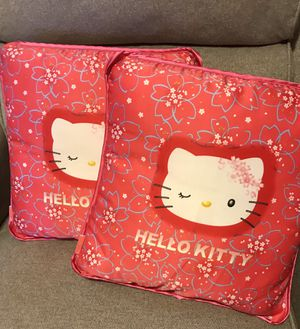Two Hello Kitty 12x12 decor pillows. Still new for Sale in Santa Ana, CA