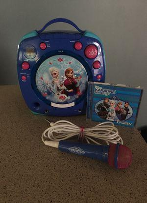 Disney FROZEN Elsa & Anna CD Player/Karaoke for Sale in Lynnwood, WA