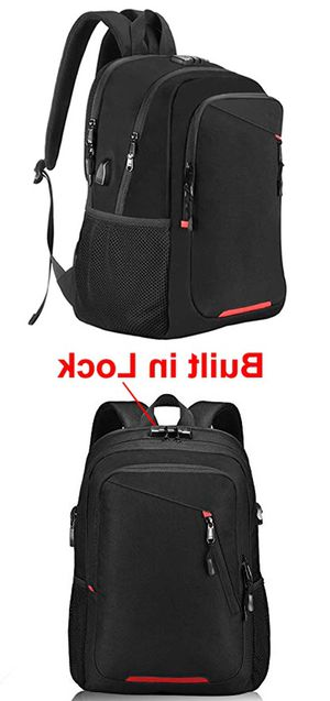 """New, $15 OMORC Anti-Theft Laptop Backpack w/ Lock Waterproof Travel Bag USB Charging Port Fit 15"""" Notebook for Sale in Whittier, CA"""