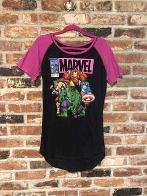 Marvel long tee / baseball sleeve / shirt dress for Sale in Seattle, WA