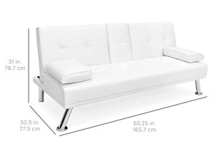 Brand New! White Leather Luxury Futon for Sale in Orlando, FL