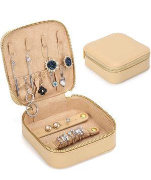 Small Jewelry Box Travel Jewelry Organizer,Leather Jewelry Case for Girl Gift Mini Travel Case Portable Jewelry Storage Box for Sale in PORT WENTWRTH, GA
