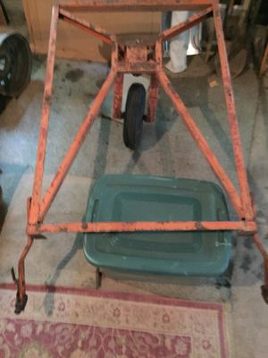 SEARS (Allstate) Vintage one wheel car trailer, frame for Sale in Dallas, PA