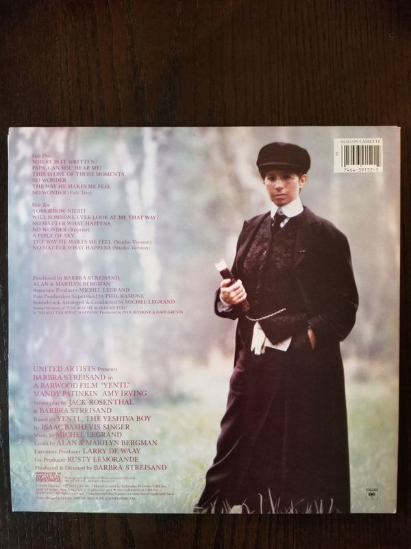 YENTL Motion Picture Soundtrack Vinyl LP Album Barbra Streisand
