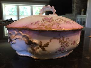 Antique French Limoges China serving dish with cover for Sale in San Jose, CA