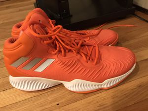 Adidas Bounce Mens Sneaker Size 19 Basketball Shoes Orange And White D97160 for Sale in Arlington Heights, IL