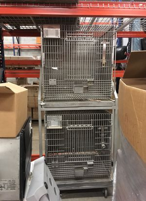 Large stainless steel bird/animal cage kennel dog cat for Sale in Columbia, MD