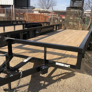 Utility Trailer 83x20 W Brakes And Ramps for Sale in Dallas, TX