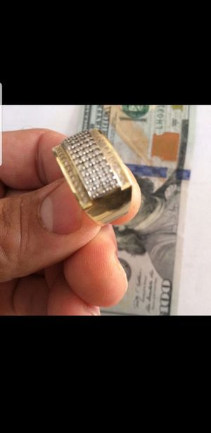 14K Solid Gold Ring CZ Stones 7Gr size 10.5 for Sale in Miami Gardens, FL