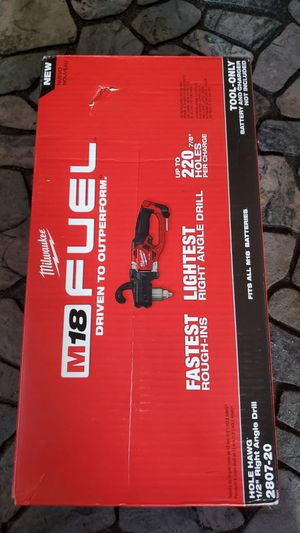 """Milwaukee m18 fuel ⛽️ HOLE HAWG 1/2"""" Right angle drill NUEVO!!!! NEW!!! ONLY TOOL!!!! for Sale in Chicago, IL"""