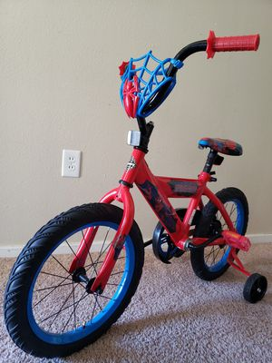 Kids Spiderman Bike w/ Training Wheels for Sale in Bremerton, WA