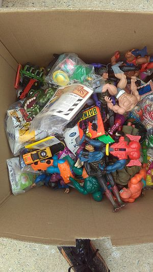 Big box of vintage toys for Sale in Monroe, NC