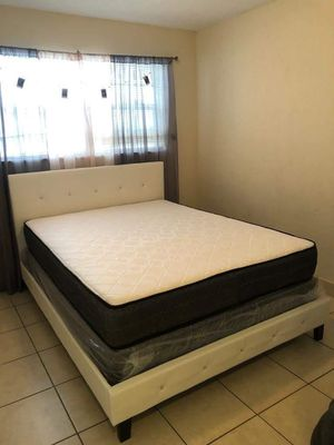 PERLA FULL BED in leader. Bed, mattress and box for Sale in Miami, FL