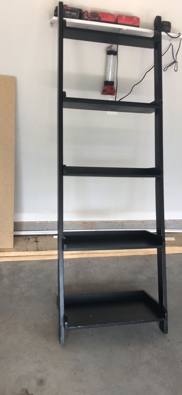 Black ladder shelf