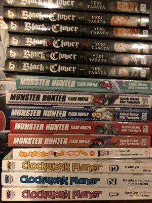 Black clover, clockwork planet, and monster hunter manga for Sale in Maplewood, MN