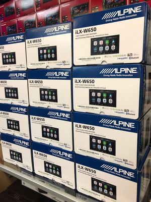Alpine ILX W650 Apple carplay Android auto USB Bluetooth 7 inch wide screen for only 299 we also carry JL Audio kicker Pioneer for Sale in Long Beach, CA
