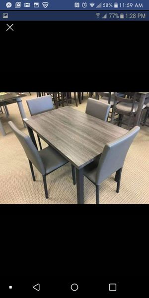 Brand New Grey 5pc. Dining Table Set for Sale in Austin, TX
