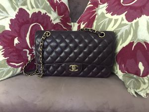 Vintage Chanel Classic Flap Bag Eggplant for Sale in Dallas, TX