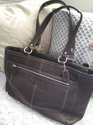 Coach Large Tote Bag (Chocolate Brown) for Sale in Upland, CA