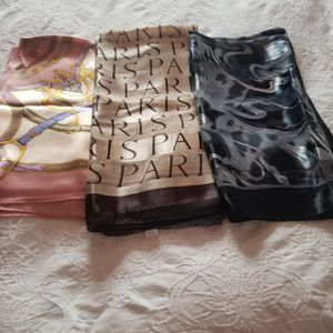 3 Silck Women's Scarfs $20 for Sale in Maple Valley, WA