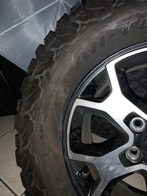 "17"" Jeep 2020 RUBICON OEM 5 wheels rims tires 2018 2019 Wrangler NEW for Sale in Sunrise, FL"