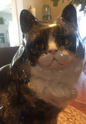 """Ceramic Cat 12"""" tall Europeon WINSTANLEY #53 collectible (one of a kind) for Sale in Ruston, WA"""