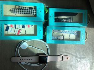 Apple Watch (3series), 4 kate spade straps, charger for Sale in Stockton, CA