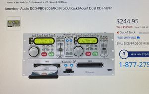 American Audio DCD-Pro300 MK 2 Pro DJ Dual CD Player Like new DJ equipment old school for Sale in Carson, CA