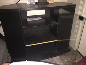 Tv stand with glass door and side cupboards (serious inquiries only) for Sale in Pittsburgh, PA