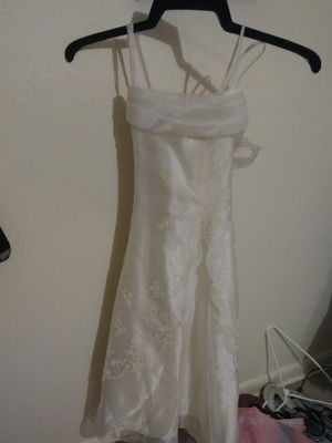 Formal white dress used for Baptism. for Sale in Tampa, FL
