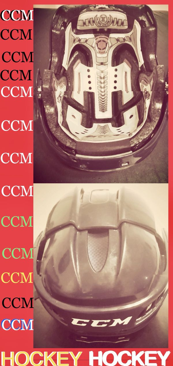 CCM Fitlite hockey helmet - Bauer mission bearings tour skates stick puck pads also - trade 4 golf clubs tent football cleats Nike baseball bat adida