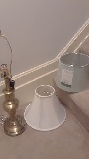 Brand new lamp with 2 shades for Sale in MD CITY, MD