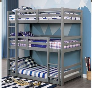 CM BK 589 TRIPLE TWIN BUNK BED MATTRESS NOT INCLUDED ORDER TODAY ☎️ 1714586*2564 for Sale in Buena Park, CA