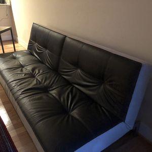 Leather futon bed for Sale in Arlington, VA