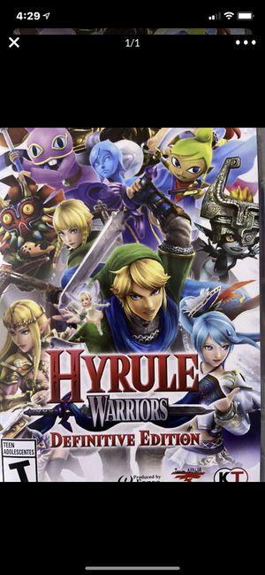 Nintendo switch Hyrule Warriors for Sale in Wildomar, CA