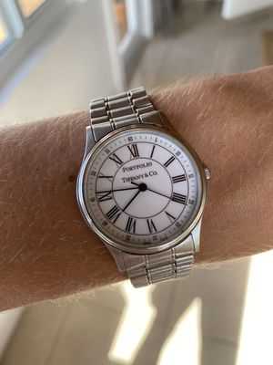 Tiffany & Co. Stainless Steel Portfolio Watch for Sale in South Miami, FL