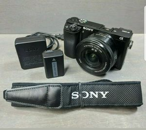 Sony Alpha a6000 24.3MP Digital SLR Camera - Black Kit with 16-50mm lens for Sale in Cary, NC